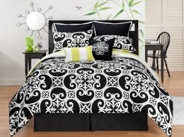 Sunset and Vine Kennedy 8 Piece King forter Set Black White