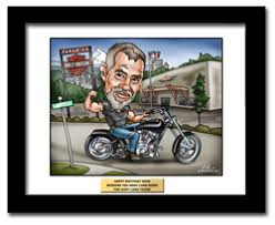 harley davidson gifts 2 a fully custom harley davidson gift caricature from a photo