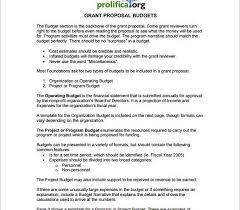 Famous Sample Budget Narrative Template Motif - Certificate Resume ...