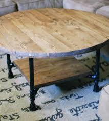reclaimed wood round coffee table with shelf home furniture round reclaimed wood coffee table in