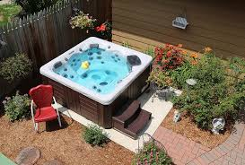 Backyard Ideas For Hot Tubs And Swim Spas Interesting Hot Tub Backyard Ideas Plans