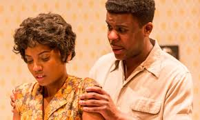 review a raisin in the sun at new wolsey theatre exeunt magazine alisha bailey and ashley zhangazha in a raisin in the sun photograph johan persson