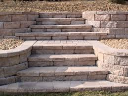 Small Picture retaining wall stairs Retaining Wall with Stone Steps
