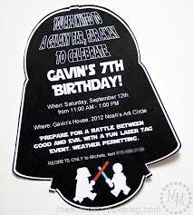 Star Wars Darth Vader Birthday Invi On Star Wars Birthday Invitation