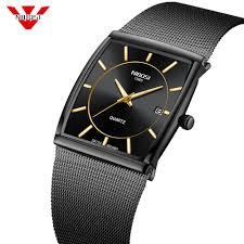 <b>NIBOSI Luxury Brand</b> Watches Men Stainless Steel Mesh Band ...