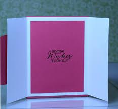 fold card cottageblog gate fold flower card