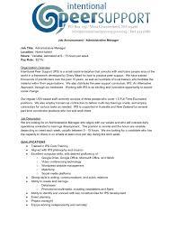 Administrative Manager Job Description Intentional Peer