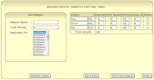 Cbse School Timetable Generator Maker Builder Software