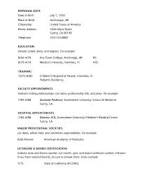 Curriculum Vitae Outline Best Physician Curriculum Vitae Template Awesome Help With Writing