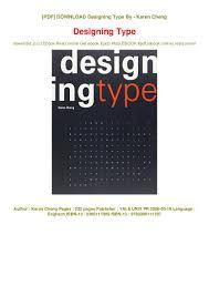 Designing Type Cheng Pdf Designing Type Free Online