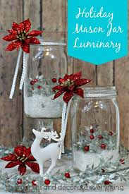 Mason Jar Decorating Ideas For Christmas Christmas Holiday Decorating With Mason Jars Canning Jars Avec 26