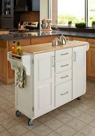 Small Picture Home Styles Create a Cart White Kitchen Cart With Natural Wood Top