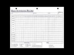 Employees Attendance Sheet Template Daily Employee Attendance Sheet In Excel Template Youtube