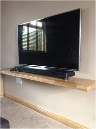 Floating Shelf Under Wall Mounted Tv