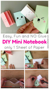 diy mini notebook from a sheet of paper these little notebooks are super fun to
