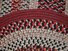 vintage american oval braided rug 1930s 10