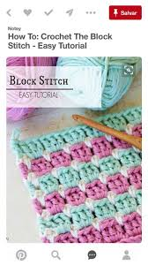 Block Stitch Crochet Pattern Interesting Design Ideas