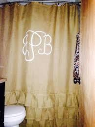 fantastic monogrammed shower curtains and best 25 burlap shower curtains ideas on home decor burlap shower