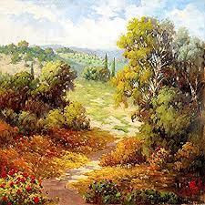 Amazon.com: Autumn Path by Marino Landscape Europe Fall (Choose ...