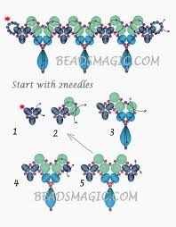 Free Beading Patterns Interesting Free Pattern For Necklace LINA Beads Magic Use Seed Beads 4848