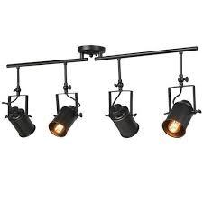 black track lighting. Black Split Rail 4 Spotlight Track Lighting