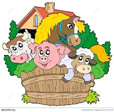 group of animals clipart. Beautiful Animals Group Of Farm Animals On Of Animals Clipart