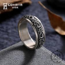2019 <b>Gomaya</b> Carving Flower <b>925 Sterling</b> Silver Rings Gothic ...