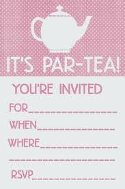 Tea Party Invitations Free Template New Free Printable Tea Party Invitations Birthday Invitation