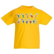 Kinder Jungenmädchen T Shirt Ich Liebe Das Mathe Zähle 1 Bis 10i