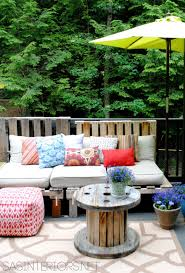 outdoor pallet furniture ideas. Jenna Outdoor Pallet Sofa Furniture Ideas