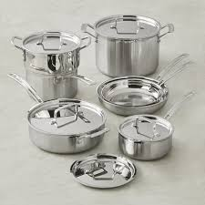 tri ply cookware. Plain Cookware Cuisinart Multiclad TriPly StainlessSteel 12Piece Cookware Set For Tri Ply 0