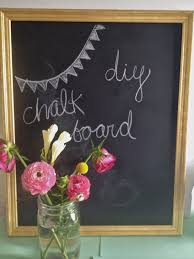 diy chalkboard from thrifted frame