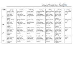House Of Bennetts Chore Chart For Adults Chore Chart For