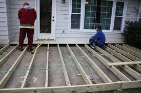 deck over concrete building a deck