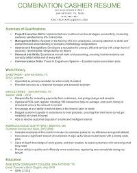 Resume Examples For Cashier Adorable Cashier Resume Skills Resume Badak