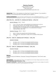 Modern Resume For Restaurant Resume Sample Assistant Manager Resume