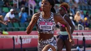 Keni Harrison in 2020 Tokyo Olympics ...