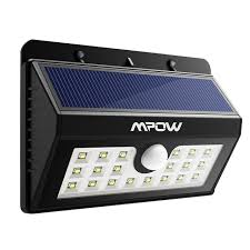 mpow 20 led solar lights bright outdoor security lights with motion sensor wireless waterproof lights