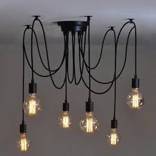 pendant lighting industrial style. vintage industrial style chandelier pendant lights diy ceiling lamp 6 heads lighting