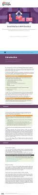 Email Design Checklist Email Marketing Platform Rfp Template Checklist Smart Insights
