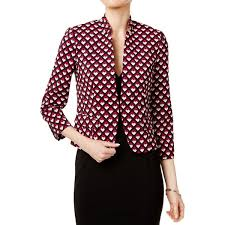 Patterned Blazer Womens Gorgeous Nine West Womens OpenFront Blazer Patterned Collarless Free