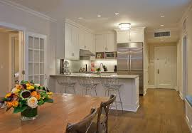 lighting for small kitchen. a ceiling flush mount light is an excellent idea for small kitchen photo credit lighting s