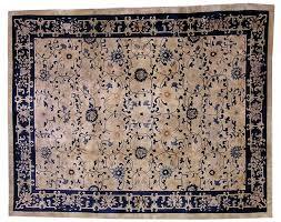 antique chinese peking handmade rug 1900s 8