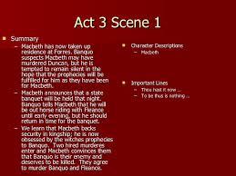 macbeth act notes act 3 scene 1