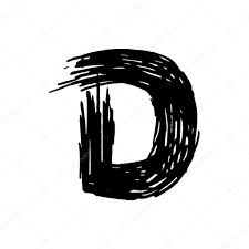 D Letter Painted With A Felt Pen Stock Vector