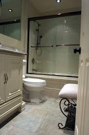 panel white wooden vanities bath also white seat antique chair and free standing chrome bathtub head shower in modern white small master bathroom ideas