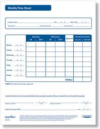 Employee Weekly Time Sheet Weekly Timesheet Forms