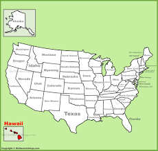hawai location on the us map