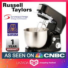 rus taylors 1000w 5l stand mixer sm 1000 cake kitchen blender
