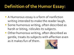 the humorous essay types of essay nonfiction unit 2